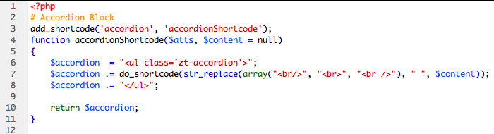 Shortcodes Example